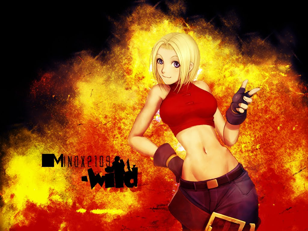 The anime world - Anime girls with fire ...
