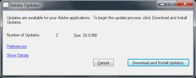Adobe Updater error: The update server is not responding