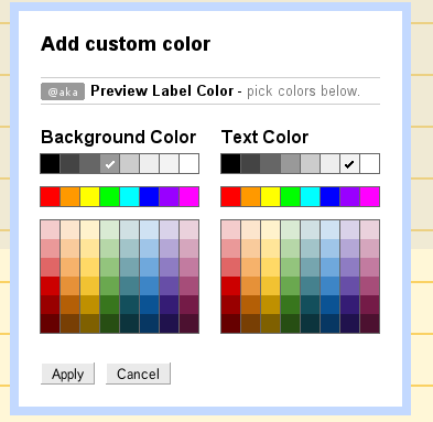 Gmail - Label Colors
