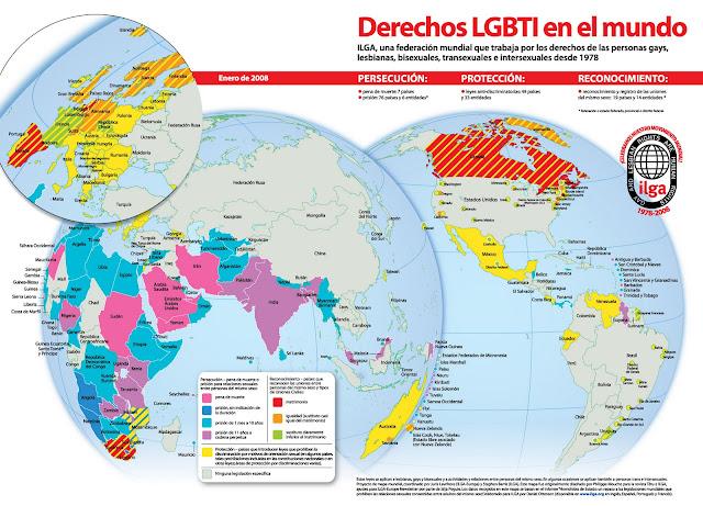 Resultado de imagen de derechos lgtbi en el mundo