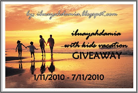 ibuayahdamia vacation with kids Giveaway