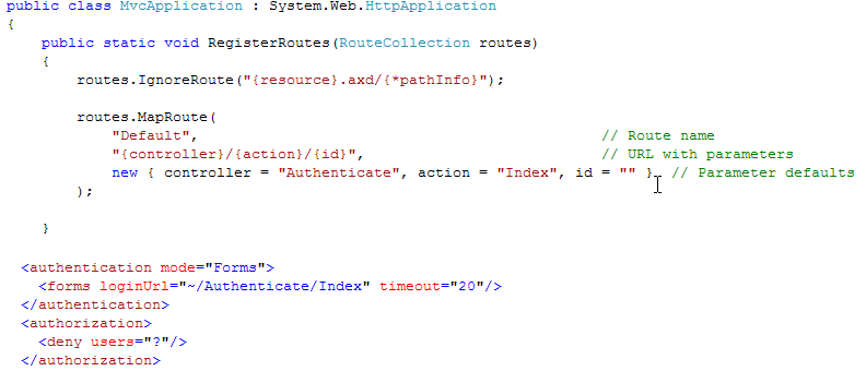 Professional  NET Articles: MVC Forms Authentication and