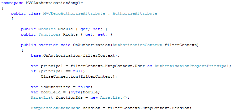 Professional  NET Articles: MVC Custom authorization (part 2)