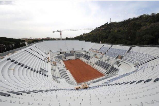 roma pronto il nuovo stadio centrale del tennis stadi business. Black Bedroom Furniture Sets. Home Design Ideas