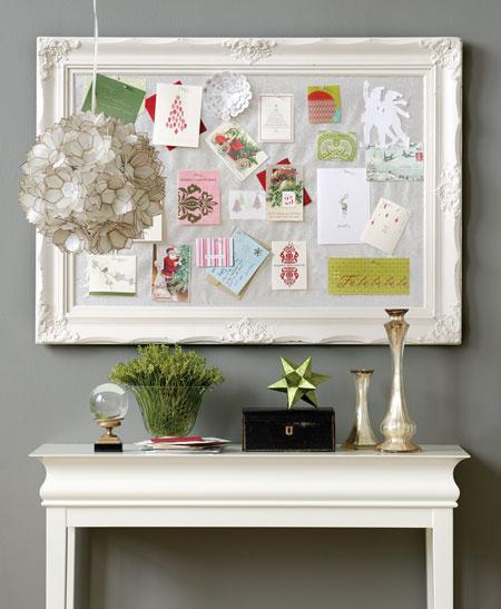 Onesie twosie creative christmas card display - Christmas card display ideas ...