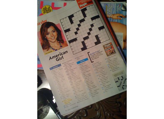what julie loves people magazine crossword puzzles