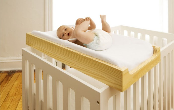 Ed and Brooke: DIY- Crib top changing table