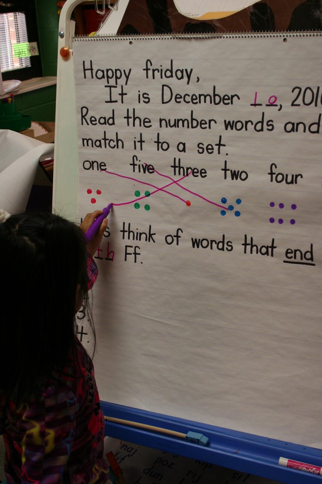 Mrs. Lee's Kindergarten: Morning Message
