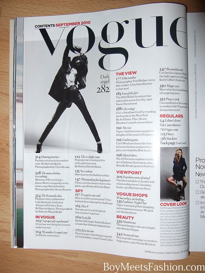 Rose Thompson AS Blog Vogue Contents Page