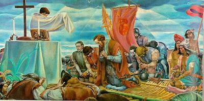Resultado de imagen para Primera misa en américa
