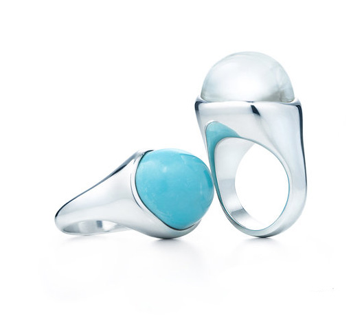 0f98daf24 Cabochon Rings Sterling silver, turquoise, rock crystal