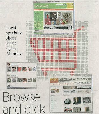Etsy newspaper article