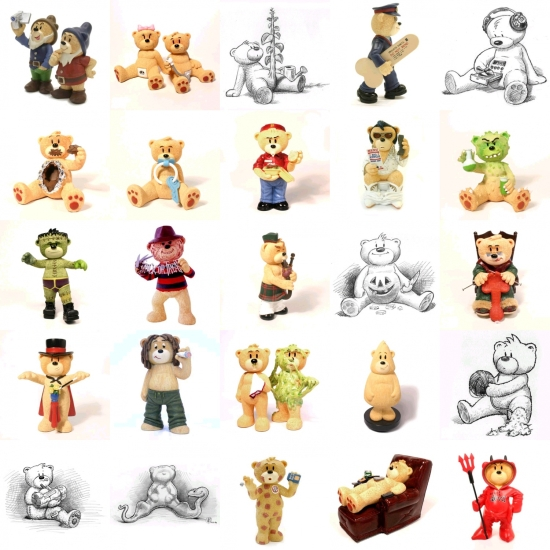 mosaico de ositos bad taste bears