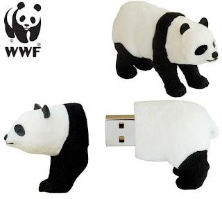 Panda USB Drive. Não é só bonitinho, também salva a natureza!