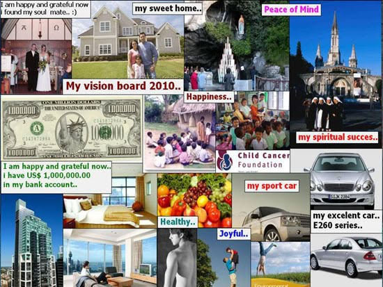 Secret Blog Of A Future Millionaire: How To Use A Vision ...