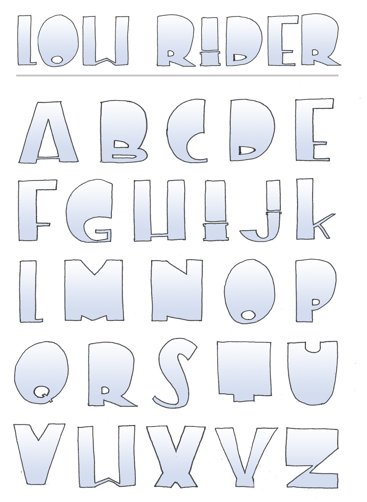 Downtown Doodler's Doodles: Colored Fonts