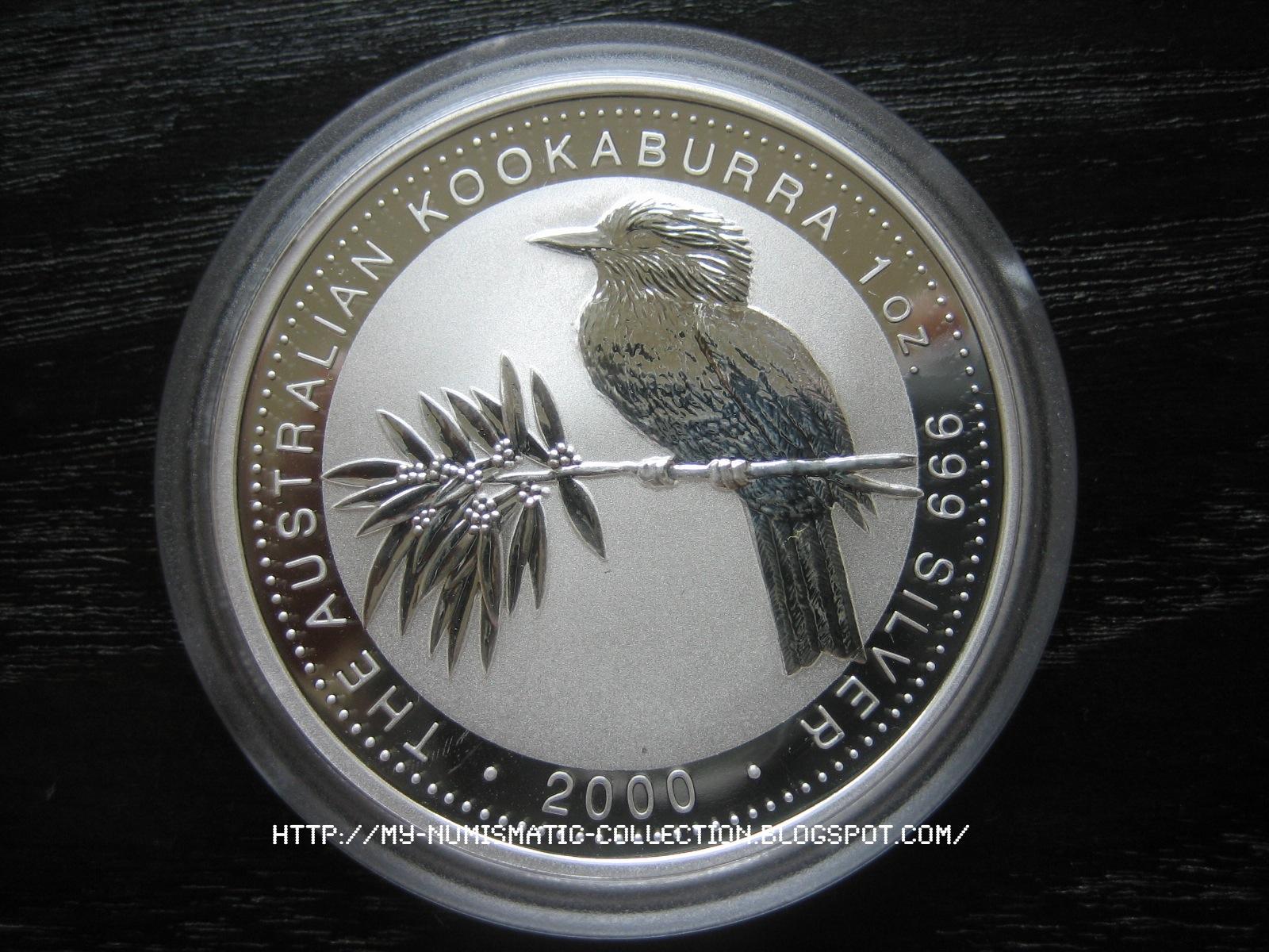 Numismatic Collection 2000 Australian Silver Kookaburra