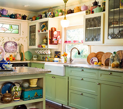 Houzz Antique White Kitchen Cabinets