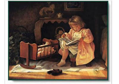 Resultado de imagem para leitura para criança na cama ilustração