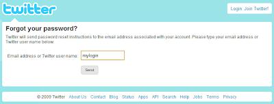 I forgot password! Password recovery instructions