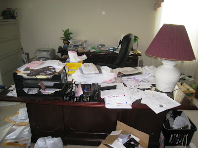 Professional organizer houston. home office before