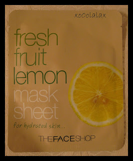 Live my life!: The Body Shop Mask Sheet: Fresh Fruit Lemon