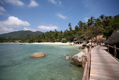 Dusk shot from balcony of budget bungalow Best Thai Beaches : Ko Phangan updated