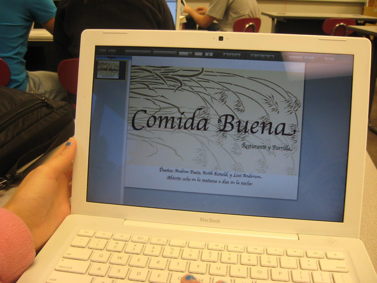 the birdwatcher menu project in spanish ii