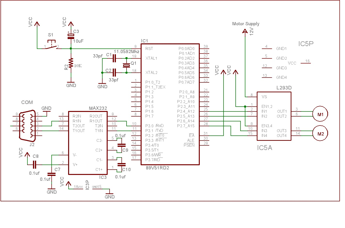 SOLVED] wants to control dc motor through l293d on