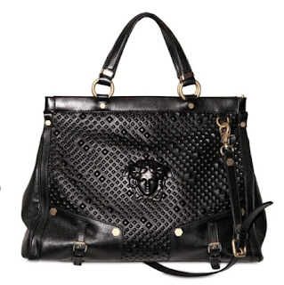 Versace Studded Relief Top Handle Bag