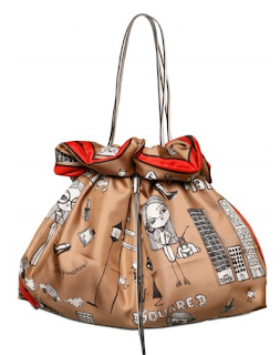 Quirky DSquared Silk Twill Tote