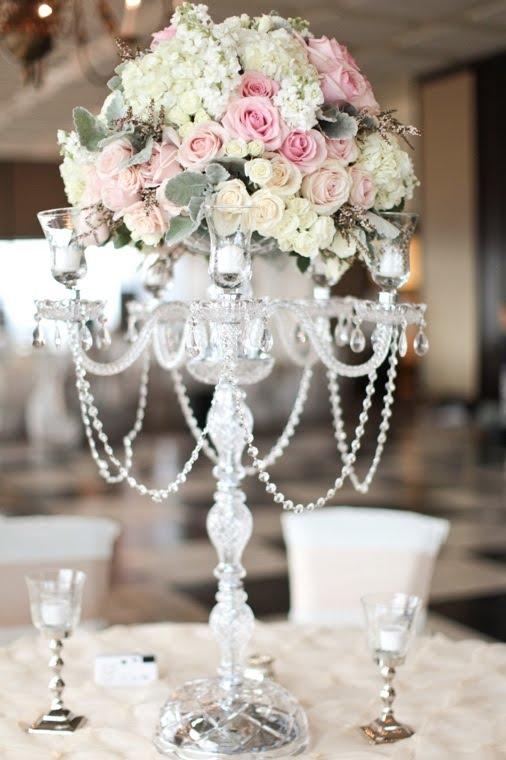 Illuminations Design Studio Real Wedding Crystal Candelabras Feauture Cori Cook Floral