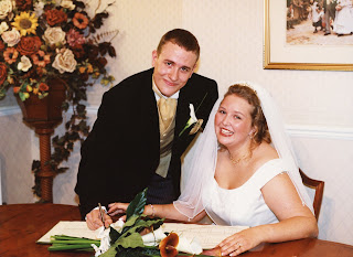 PippaD and Flyfour on their Wedding Day
