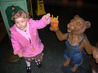 Top Ender stealing chips from a Lion at the LionKing show at Disney Land Paris 2007