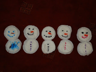 Breast Pad Snowmen Family