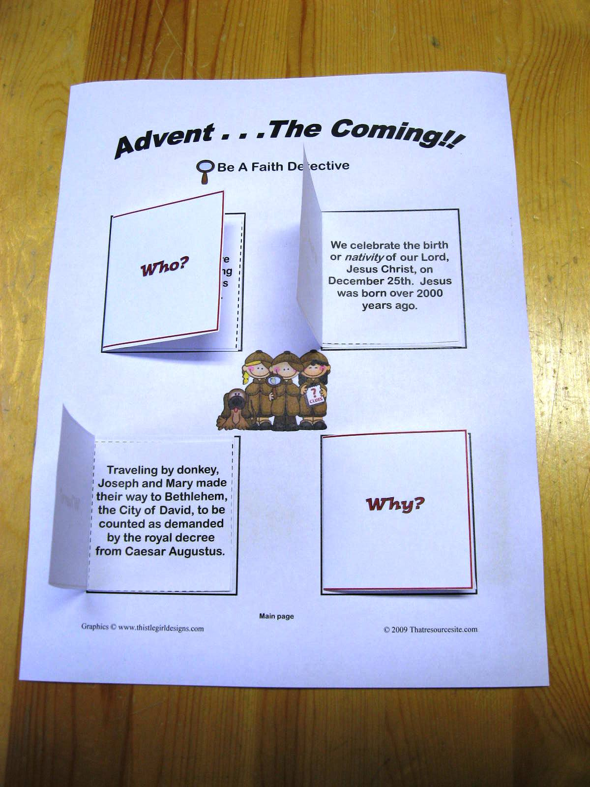 That Resource Site Advent E Coming F3 Lapbook Style