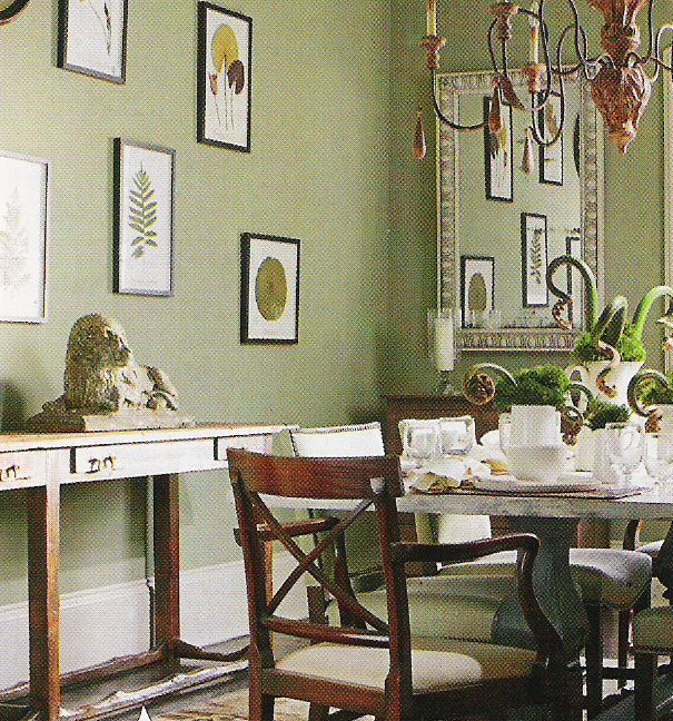 benjamin moore paint two soft greens the designer insider. Black Bedroom Furniture Sets. Home Design Ideas