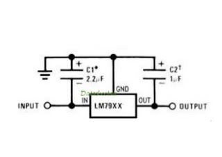 Picture Of Circuit Regulator With IC LM78XX And LM79XX