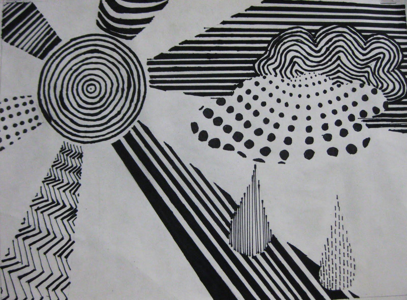 BHS Art Gallery: Graphic Design - Line Design