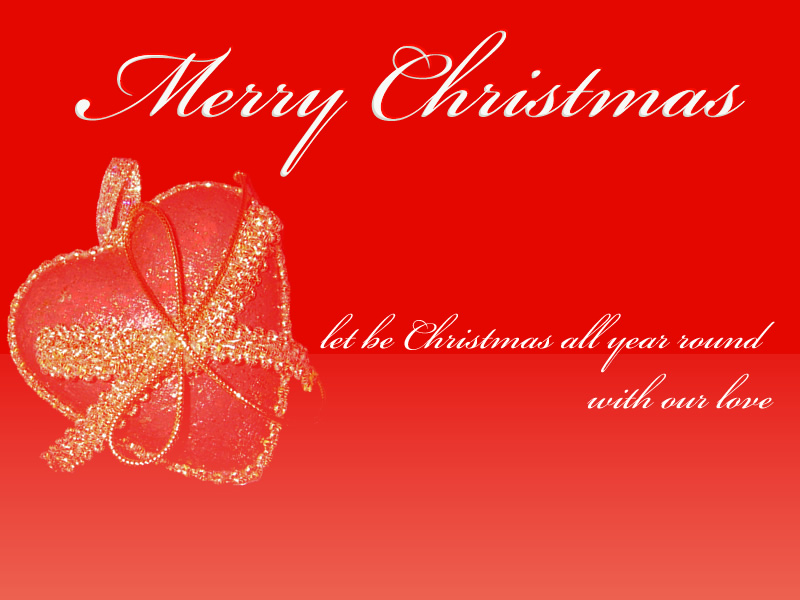 Free Holiday Wallpapers: Christmas Hearts Wallpaper, Free ...