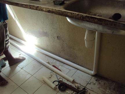 Reesha Home Renovation Pasang Ubah Paip Sinki Dapur