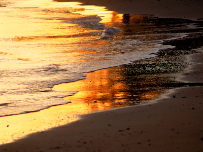 surf sunset reflections wallpaper