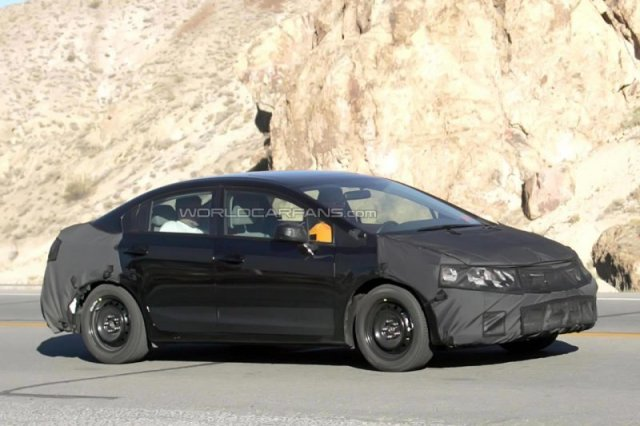 9 generation honda civic 2012 spied again. Black Bedroom Furniture Sets. Home Design Ideas