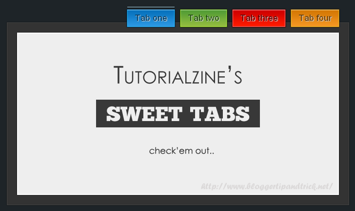 I21 Amazing jQuery Tabs Collection by BloggerTipAndTrick