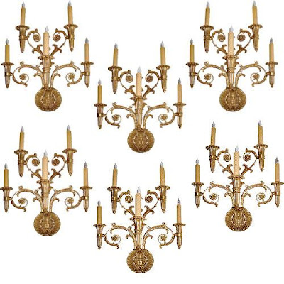 The Buzz On Antiques Bras De Lumi 201 Res And Other Wall Sconces