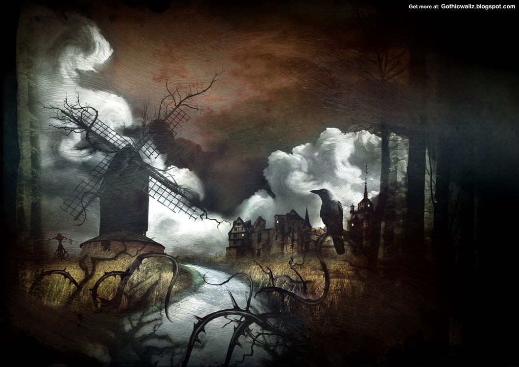 God Wallpaper Full Size Hd The Windmill Dark Gothic Wallpapers Free Gothic