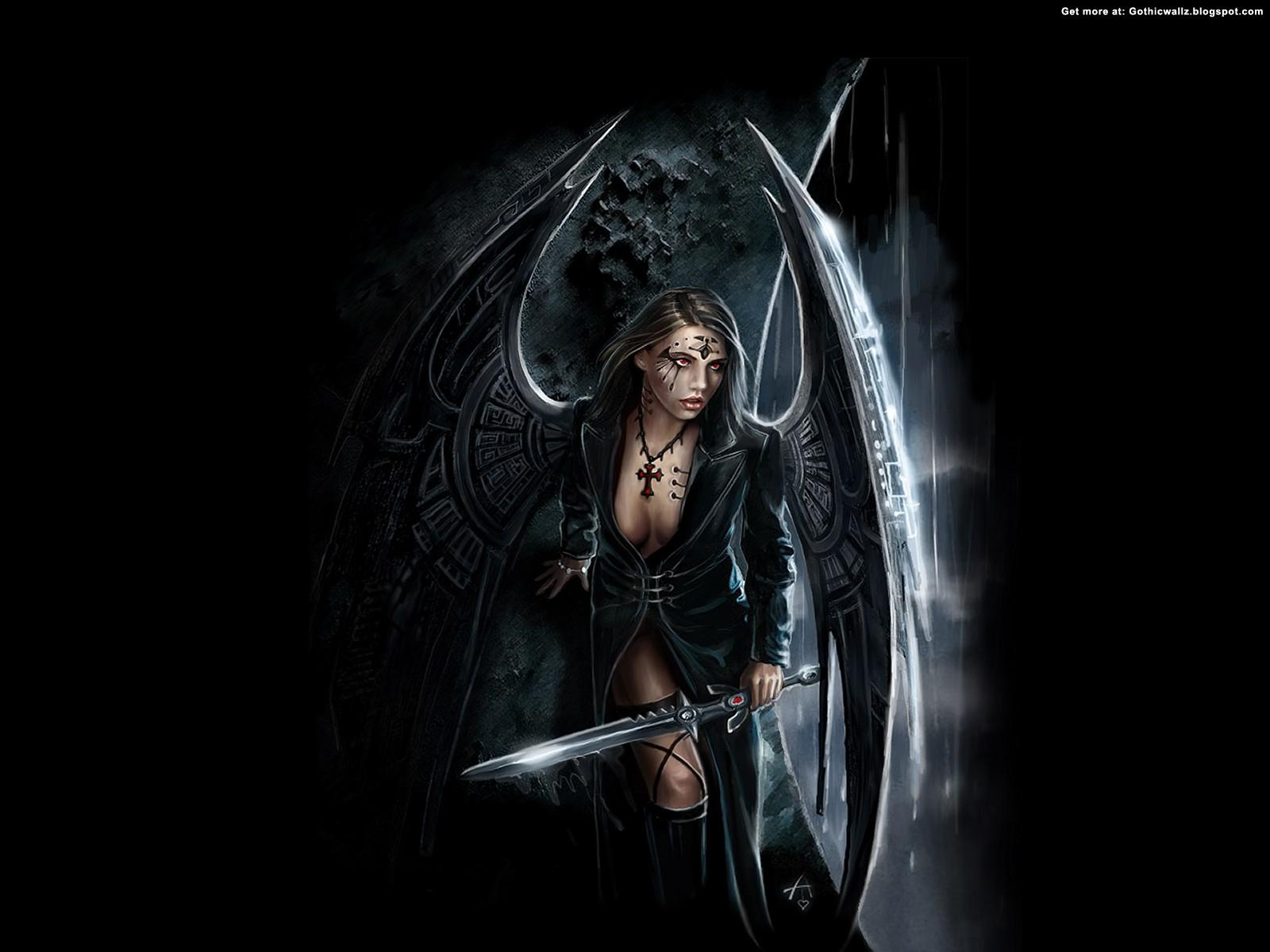 Gothic Angel Dark Gothic Wallpapers Free Gothic
