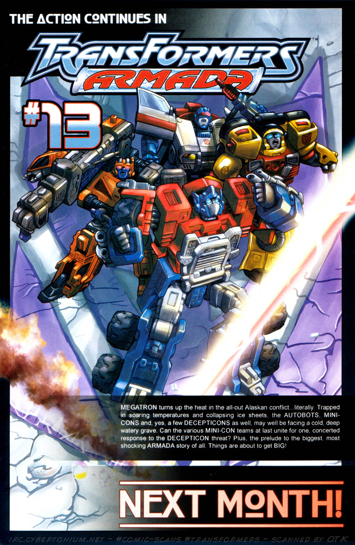 Read online Transformers Armada comic -  Issue #12 - 25