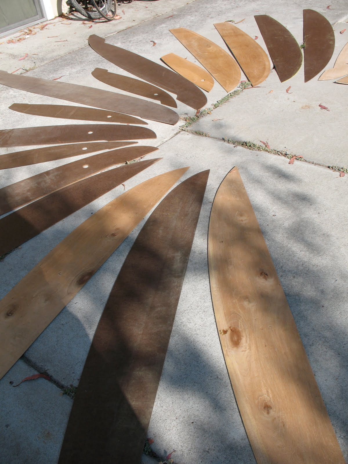 Templates Making Surfboard
