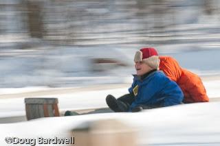 Strongsville toboggan chutes are great family fun this winter